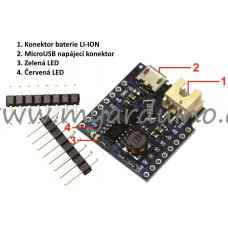 WeMos D1 mini aku batery shield