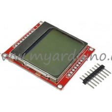 Displej LCD 84x48 modrý Nokia 5110