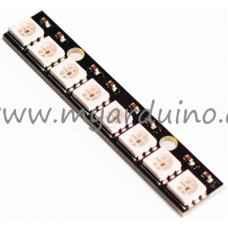 Pásek RGB modul - 8x Digitální RGB LED