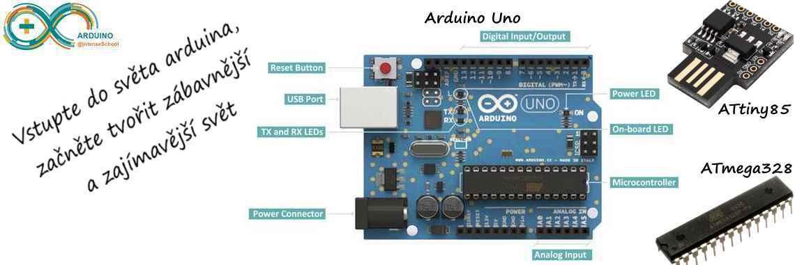 Arduino Uno, ATtiny85 usb modul a ATmega328