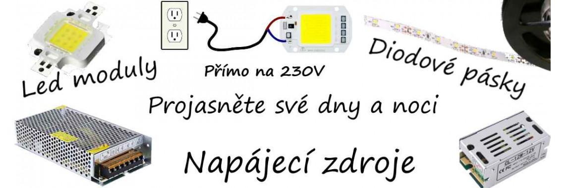 Osvětlení - LED moduly, pásky, diody, napájecí zdroje