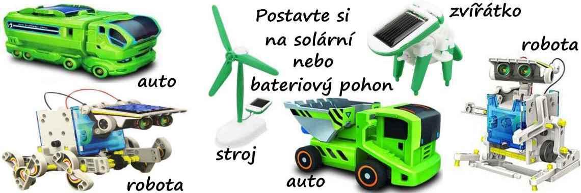 Roboti, autíčka, stavebnice