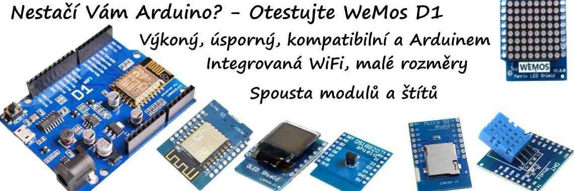 WeMos pro ty, kterym nestačí Arduino